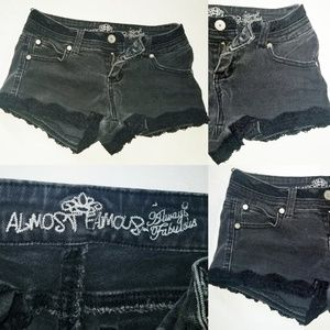 Almost Famous Always Fabulous Jean shorts Distress